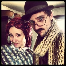 Moustache i, again (with Scarlett)