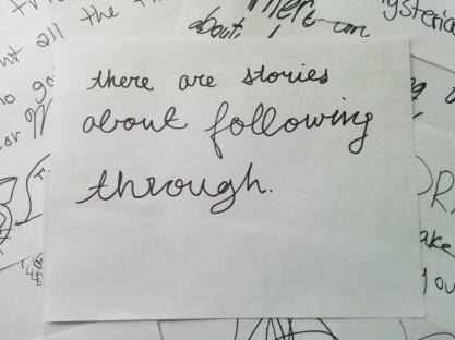 following through