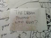 the dream you had last night