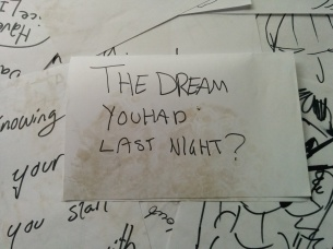 the dream you had last night